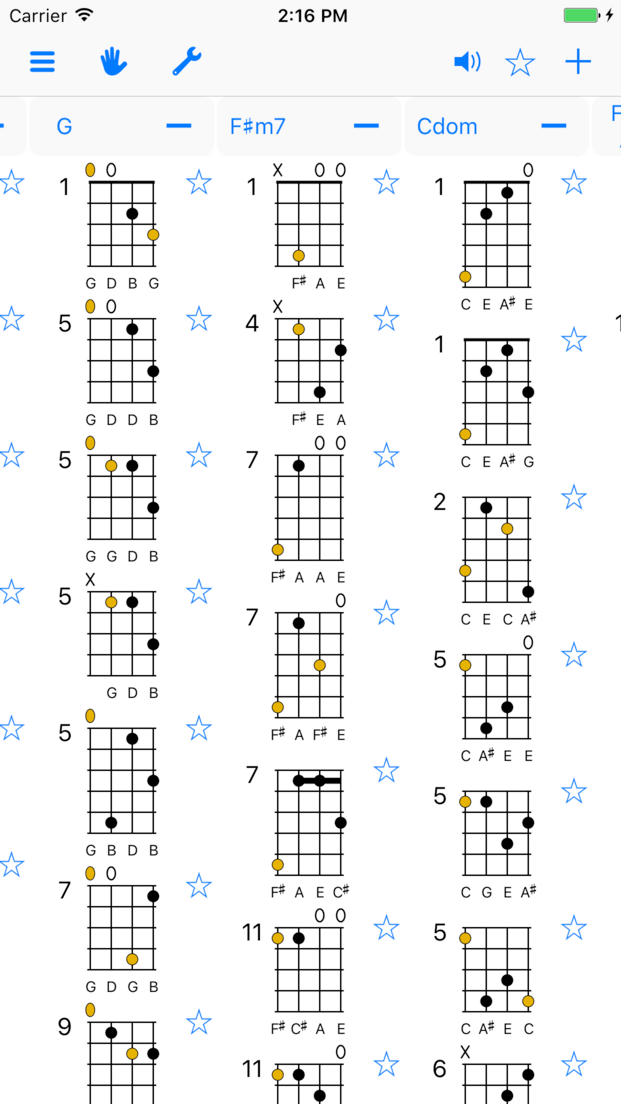 Chordaid For Iphone And Ipad Chord Charts For Guitar Ukulele
